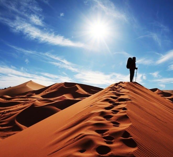 Trekking dans le sahara tunisien